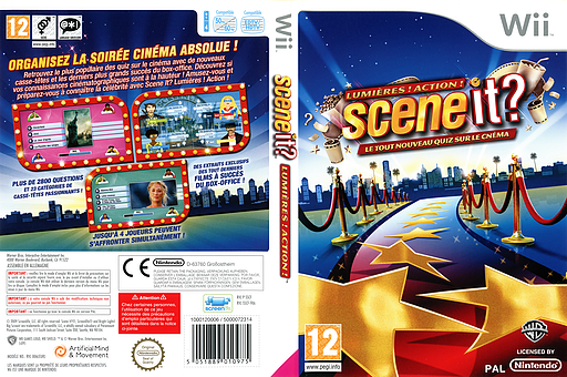 Scene it? Lumières! Action! pochette Wii (SSCFWR)