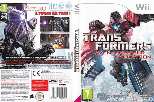 Transformers:Aventures sur Cybertron pochette Wii (ST5P52)