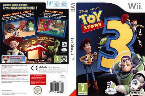 Toy Story 3 pochette Wii (STSP4Q)