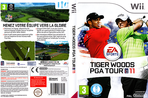Tiger Woods PGA Tour 11 pochette Wii (STWP69)