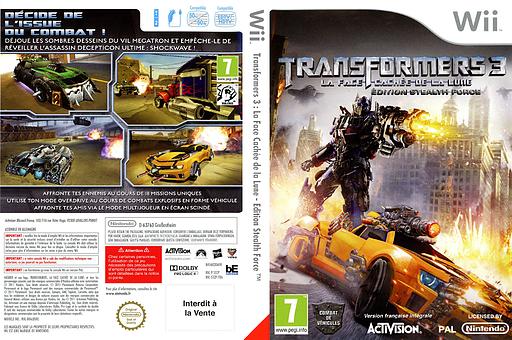Transformers 3:La Face Cachée de la Lune - Edition Stealth Force pochette Wii (STZP52)