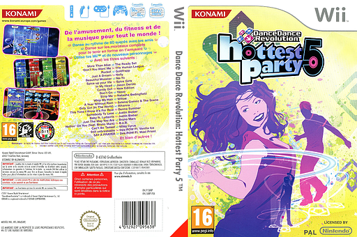 Dance Dance Revolution: Hottest Party 5 pochette Wii (SURPA4)