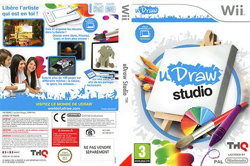 uDraw Studio pochette Wii (SUWP78)