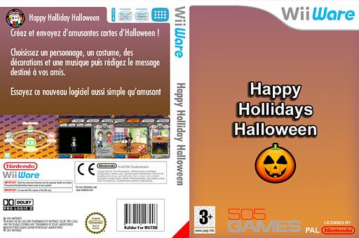 Happy Holidays Halloween pochette WiiWare (W8WP)