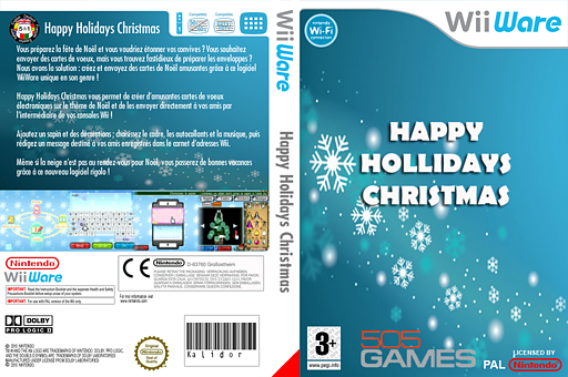 Happy Holidays Christmas pochette WiiWare (W9RP)