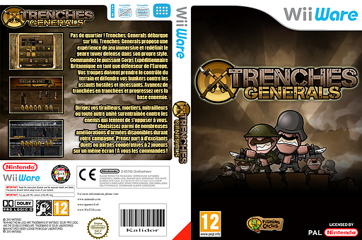Trenches: Generals pochette WiiWare (WAHP)