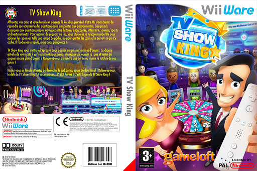 TV Show King pochette WiiWare (WB6P)
