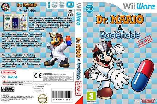 Dr. Mario & Germ Buster (Friend Battle Demo) pochette WiiWare (WDPP)