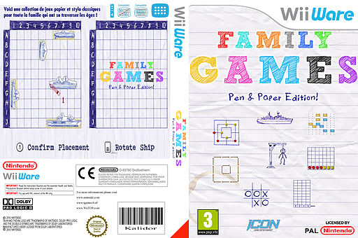 Family Games  Pen & Paper Edition pochette WiiWare (WFYP)