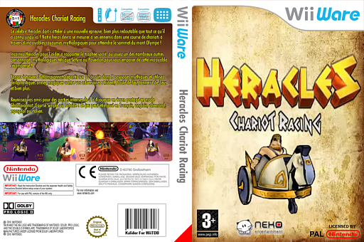 Heracles:Chariot Racing pochette WiiWare (WHEP)