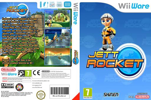 Jett Rocket pochette WiiWare (WJEP)