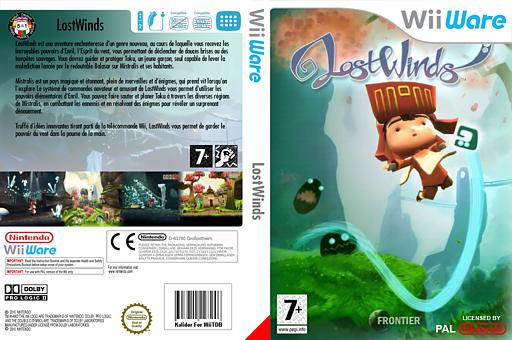 LostWinds pochette WiiWare (WLWP)