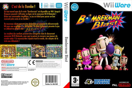 Bomberman Blast pochette WiiWare (WM8P)