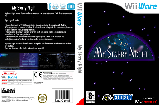 My Starry Night pochette WiiWare (WP7P)