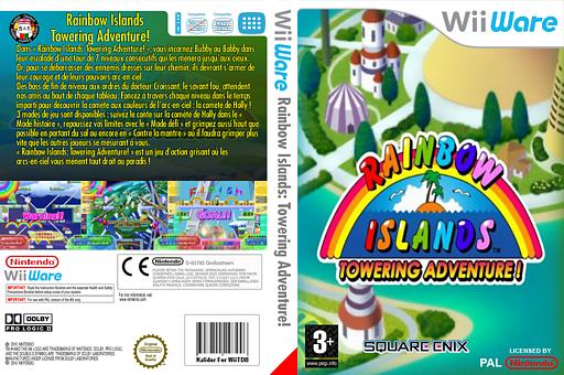 Rainbow Islands:Towering Adventure! pochette WiiWare (WRIP)