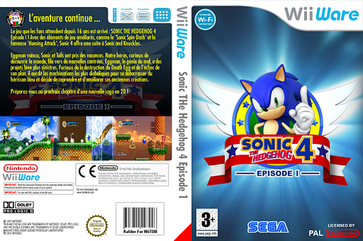 Sonic The Hedgehog 4 Episode I pochette WiiWare (WSNP)