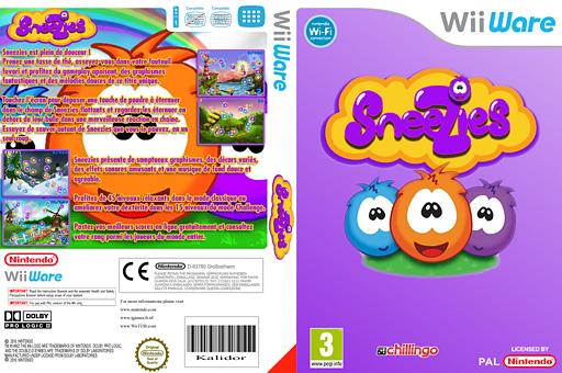 Sneezies pochette WiiWare (WSZP)