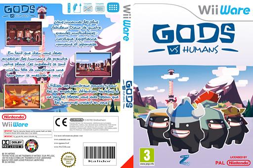 Gods Vs Humans pochette WiiWare (WVSP)