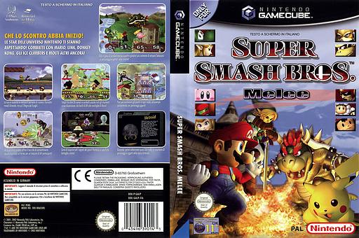 Super Smash Bros. Melee GameCube cover (GALP01)