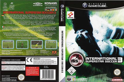 International Superstar Soccer 3 GameCube cover (GJ3PA4)
