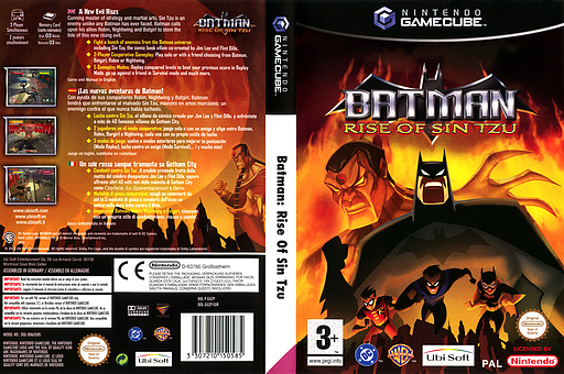 Batman Rise of Sin Tzu GameCube cover (GUZP41)