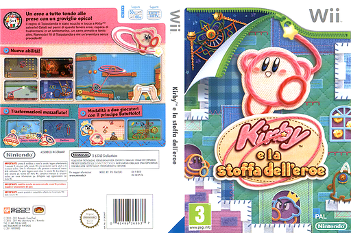 Kirby e la stoffa dell'eroe Wii cover (RK5P01)