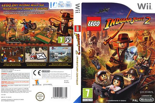 LEGO Indiana Jones 2: L'Avventura Continua Wii cover (RL4P64)
