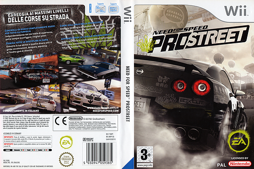 Need for Speed: Pro Street Wii cover (RNPX69)