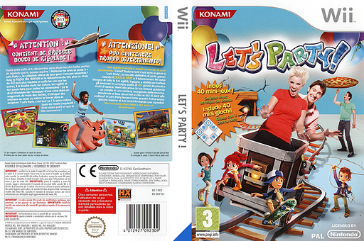 Let's Party! Wii cover (RR3PA4)