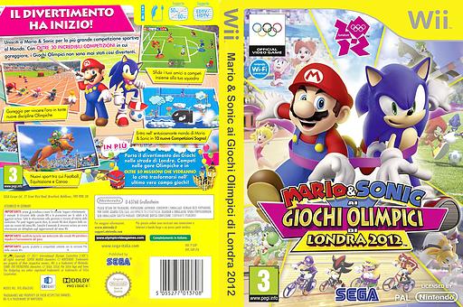 Mario & Sonic ai Giochi Olimpici di Londra 2012 Wii cover (SIIP8P)