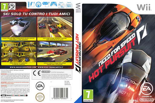 Need for Speed:Hot Pursuit Wii cover (SNHP69)