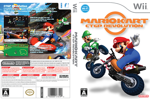 Mario Kart Wii CTGP Revolution CUSTOM cover (RMCJCT)
