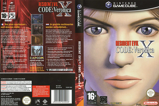 Resident Evil Code: Veronica X GameCube cover (GCDP08)