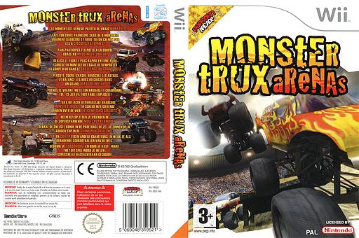 Monster Trux Arenas Wii cover (RRXXUG)