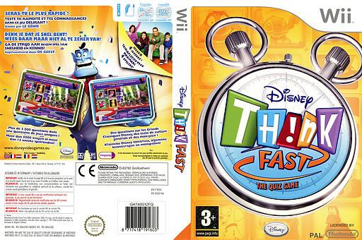 Disney Th!nk Fast Wii cover (RXDX4Q)