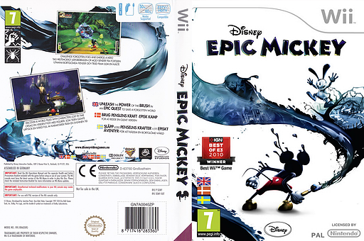 Disney Epic Mickey Wii cover (SEMY4Q)