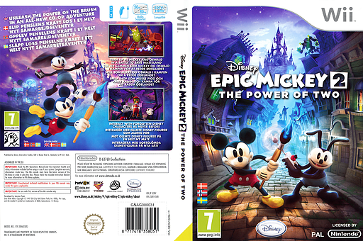 Disney Epic Mickey 2: The Power of Two Wii cover (SERV4Q)