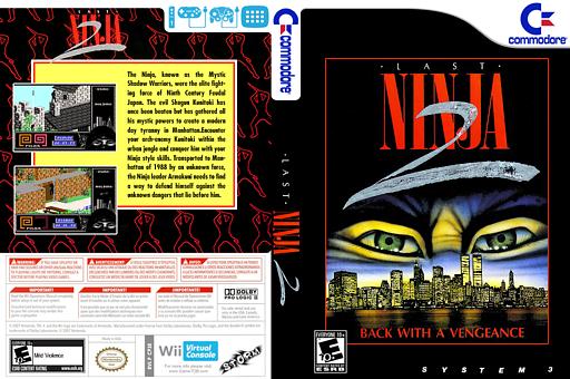 Last Ninja 2 VC-C64 cover (C93E)