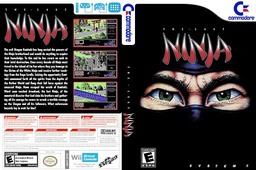 The Last Ninja VC-C64 cover (C9XE)