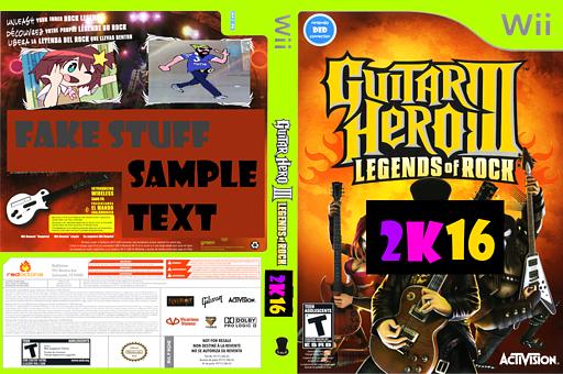 Guitar Hero 2K16 (Custom) CUSTOM cover (CGHE52)