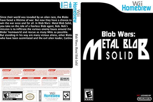 Blob Wars: Metal Blob Solid Homebrew cover (D08A)