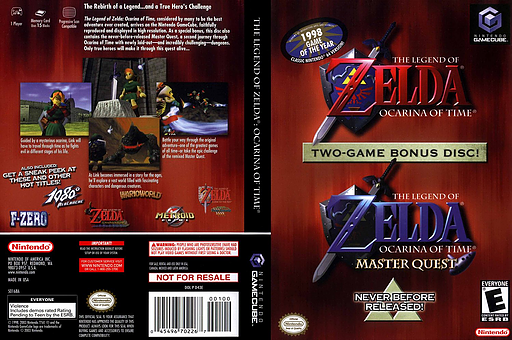 The Legend of Zelda: Ocarina of Time / Master Quest GameCube cover (D43E01)