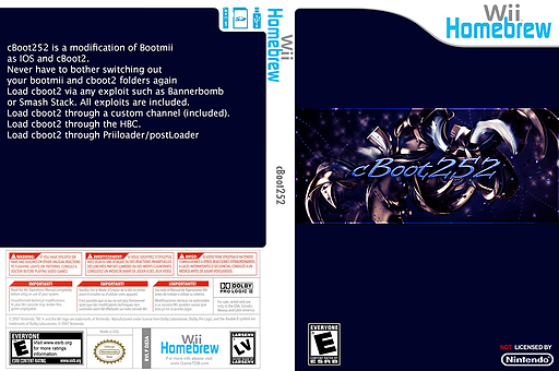cboot252 Homebrew cover (D52A)