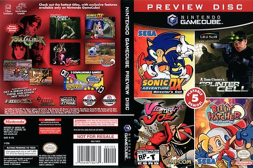 GameCube Preview Disc GameCube cover (D87E01)