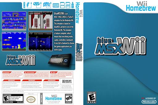 BlueMSX-wii Homebrew cover (DBLA)