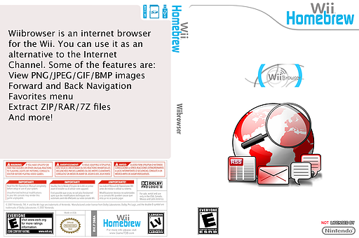 WiiBrowser Homebrew cover (DBRA)