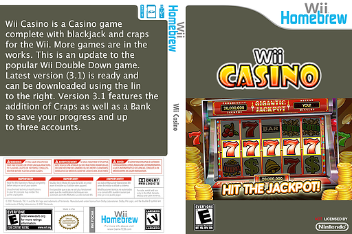Wiicasino Homebrew cover (DCAA)