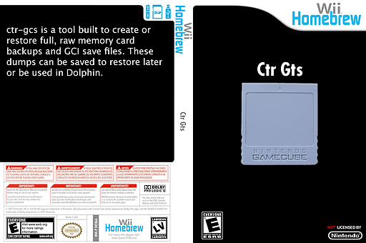 Ctr-Gcs Homebrew cover (DCGA)