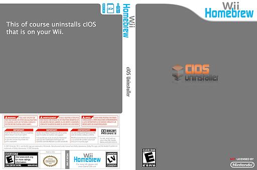 cIOS Uninstaller Homebrew cover (DCUA)