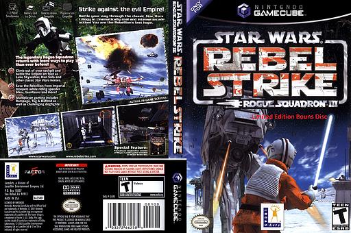 Star Wars: Rogue Squadron III: Rebel Strike: Limited Edition Bonus Disc (Demo) GameCube cover (DLSE64)